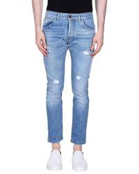 Entre Amis Blue Denim Pants for men