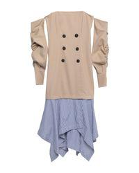 Vestido a media pierna Jonathan Simkhai de color Natural