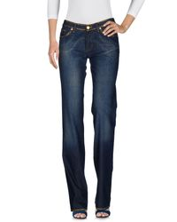 Versace Jeans - Blue Denim Pants - Lyst
