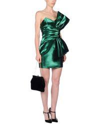 Saint Laurent - Green Short Dress - Lyst