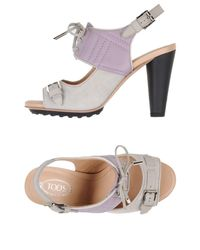 Tod's Gray Sandals
