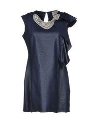 Jijil - Blue Short Dress - Lyst