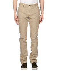 Pantalones Incotex de hombre de color Natural