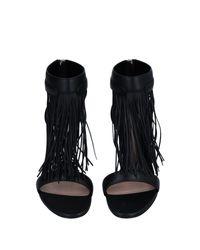 Sandali di Alexander McQueen in Black