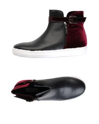 Jolie By Edward Spiers Black High Sneakers & Tennisschuhe