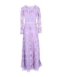 Space Style Concept Purple Long Dress