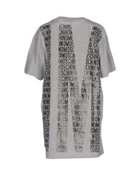 Moschino - Gray T-shirt - Lyst