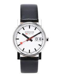 Mondaine Black Wrist Watch