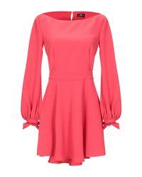 Elisabetta Franchi Red Short Dress