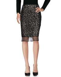 Scee By Twin-set - White Knee Length Skirt - Lyst