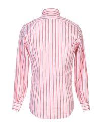 Bagutta Pink Shirt for men