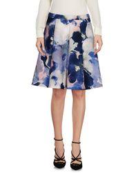 Twin Set Blue Knee Length Skirt