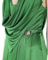Versace Green Langes Kleid