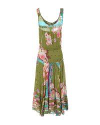 Blumarine - Green 3/4 Length Dress - Lyst