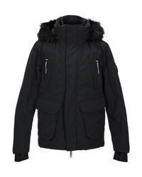 Superdry Black Down Jacket for men