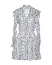 Robe courte Alaïa en coloris White