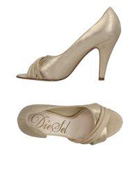 DIESEL - Metallic Sandals - Lyst