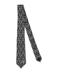 Cravatta di Alexander McQueen in White da Uomo