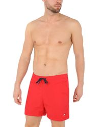 Tommy Hilfiger Red Swimming Trunks for men