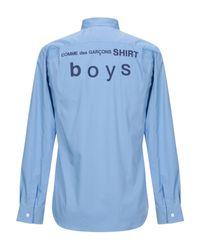 Camisa Comme des Garçons de hombre de color Blue