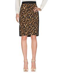 DKNY Black Knee Length Skirt