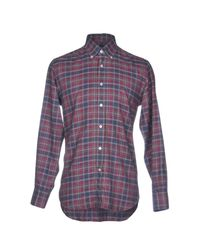 Canali Purple Shirt for men