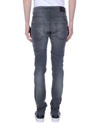 Balmain Gray Denim Trousers for men
