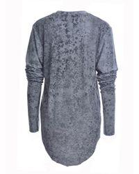 Simeon Farrar - Gray Xtra Long Sleeves Grey Star Tee - Lyst