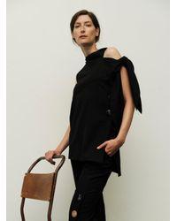 Eudon Choi - Isle Black Turtleneck Top With Shoulder Detail - Last One - Lyst