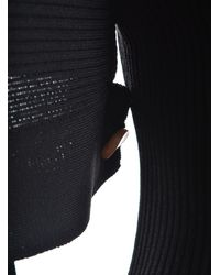 Eudon Choi - Isle Black Turtleneck Top With Shoulder Detail - Last One - Lyst