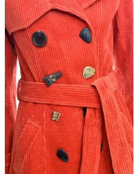 Rejina Pyo - Red Kirsten Rust Corduroy Trench Coat - Lyst