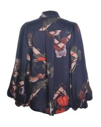 Klements | Painter's Smock In Deep Blue Kew Print | Lyst