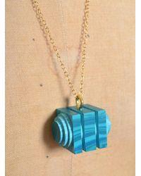 Lily Kamper   Green-blue Matrix Tiered Cube Pendant   Lyst
