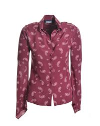 Rockins Multicolor Guns & Mitred Sleeve Silk Shirt