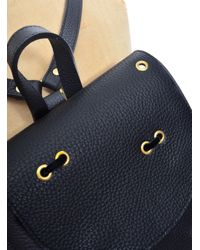 Romy LDN Wren Backpack In Almost Black Pebble Leather