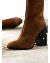 Dear Frances - Brown Spirit Boot In Copper Suede - Lyst