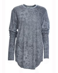 Simeon Farrar - Gray Xtra Long Sleeves Grey Star Tee - Lyst