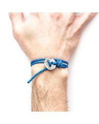 Anchor & Crew - Blue Noir Lerwick Silver And Rope Bracelet for Men - Lyst
