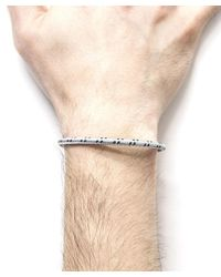 Anchor & Crew - Metallic Grey Dash Thames Silver And Rope Bangle for Men - Lyst