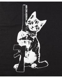 Arm the Animals - Black Ain't Kitten Around Short Sleeve Tee - Lyst