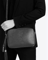 Saint Laurent Small Monogram Lou Camera Bag In Black
