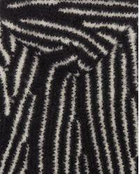 Baja en jacquard mohair imprimé zèbre Saint Laurent en coloris Black
