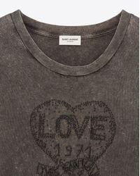 Saint Laurent Black T-shirt And Jersey