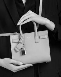 Saint Laurent - Multicolor Classic Nano Sac De Jour Bag In Antique Rose Grained Leather - Lyst