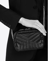 "Saint Laurent - Classic Toy Monogram Bowling Bag In Black ""y"" Matelassé Leather - Lyst"