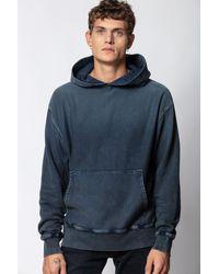 Zadig & Voltaire Blue Sanchi Spray Skull Sweatshirt for men