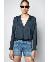 Zadig & Voltaire Blue Tamy Satin Tunic