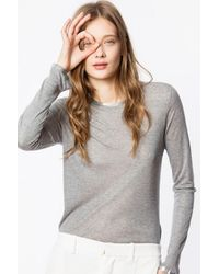 Zadig & Voltaire Gray Willy Foil T-shirt