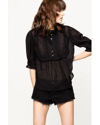 Zadig & Voltaire Black Tix Lace Tunic