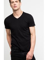 Zadig & Voltaire Black Terry Flamme Ov T-shirt for men